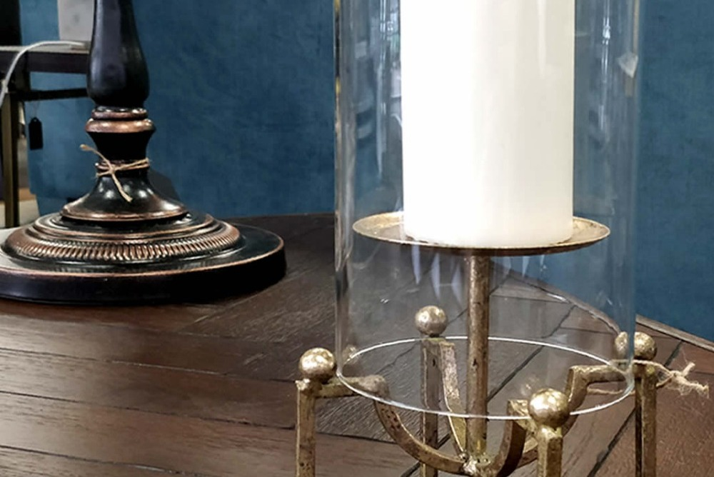 Inspired Floors accessories -  Glass Candle Holder