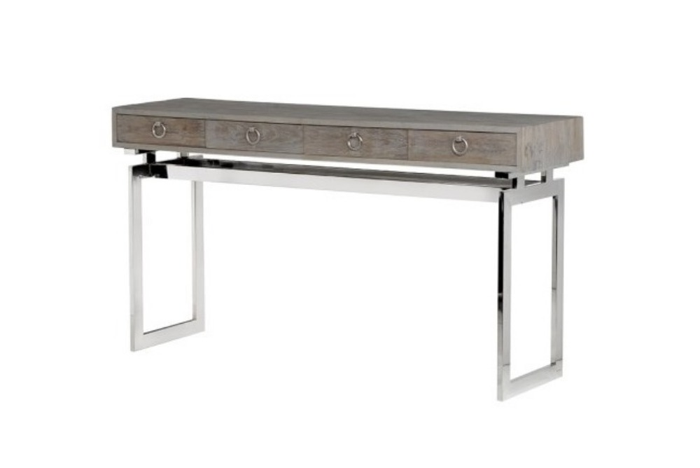 Console Table with Stainless Steel Base