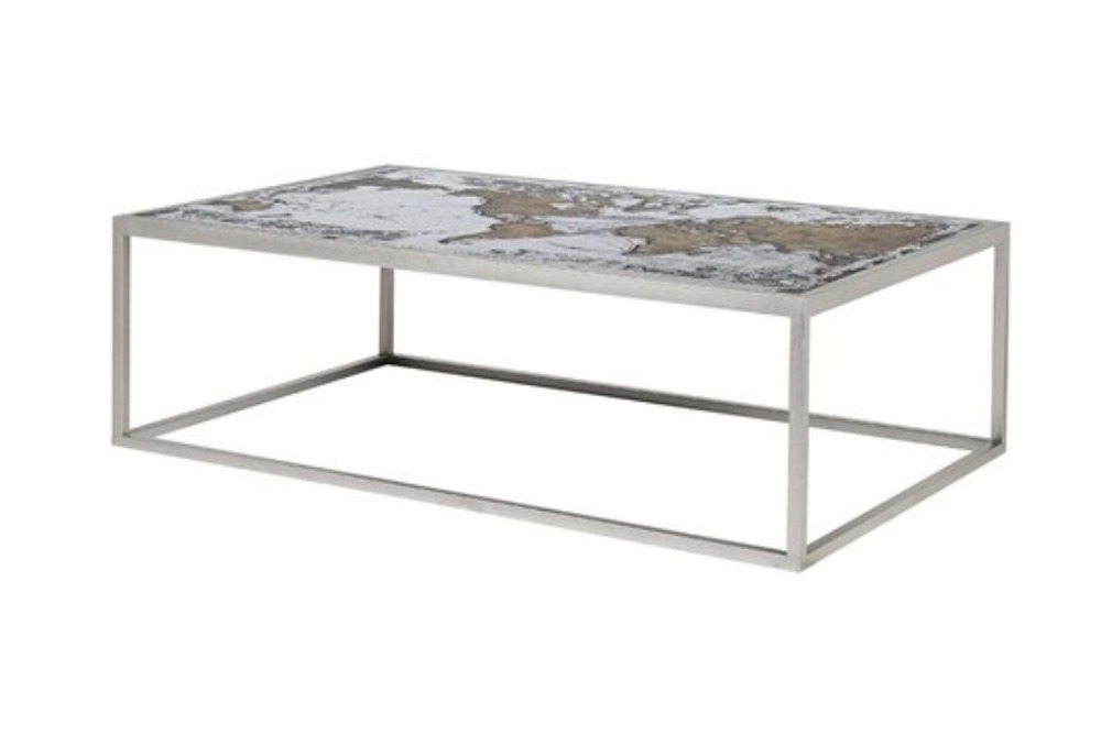 Map Print Coffee Table