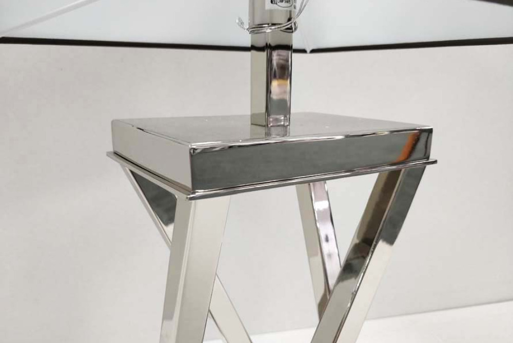 Inspired Floors lighting - Chrome Twist Lamp