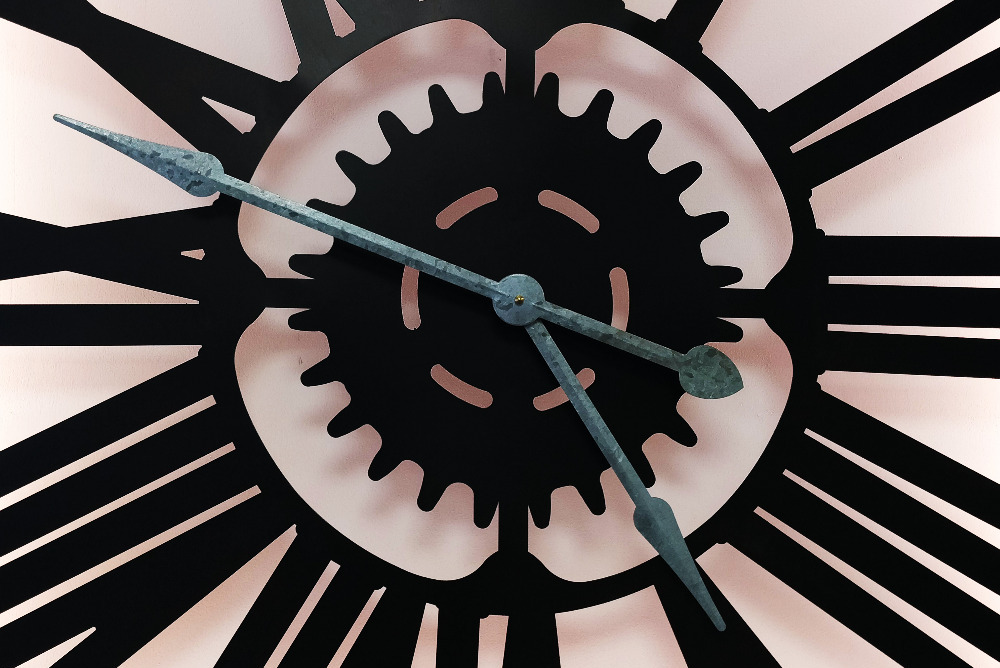 Inspired Floors clocks - Large Square Metal Skeleton Hanging Clock