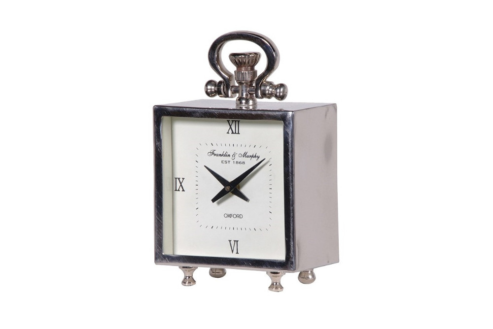 Franklin and Murphy Silver Mantel Clock