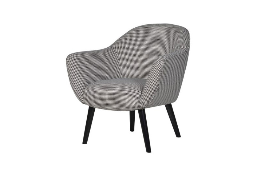 Monochrome Woollen Houndstooth Chair