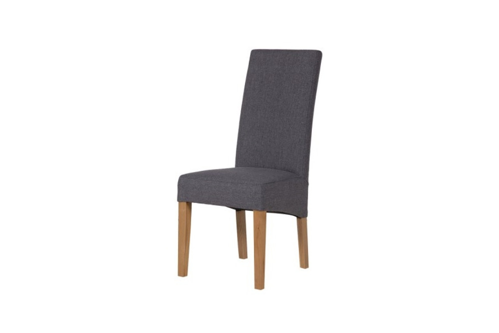 Grey Dining Chair Oak Legs