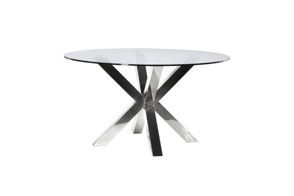 Terano Steel & Glass Round Dining