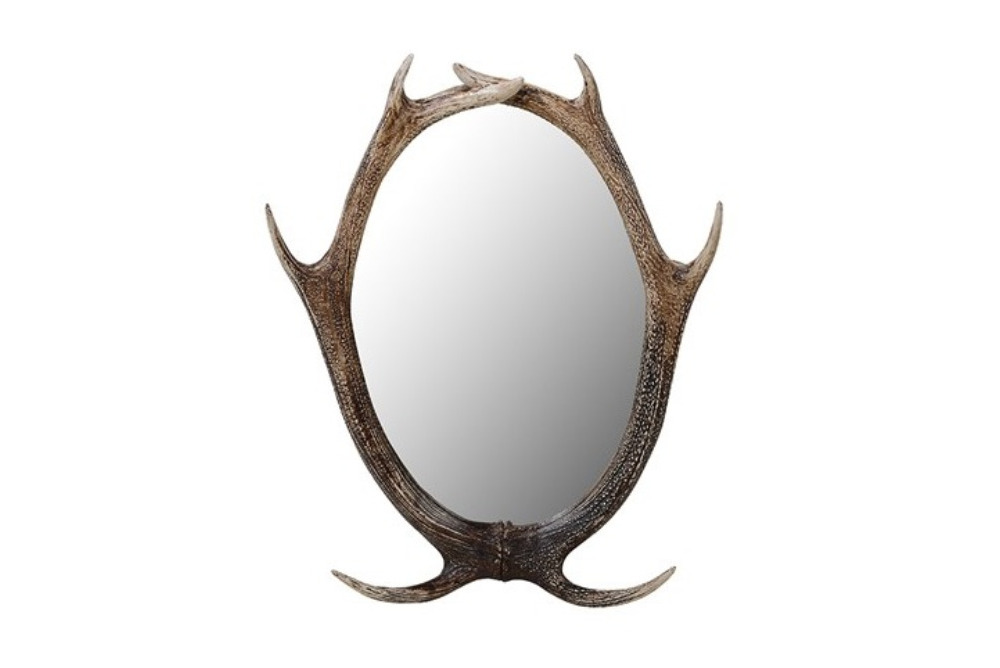 Resin Antler Wall Mirror