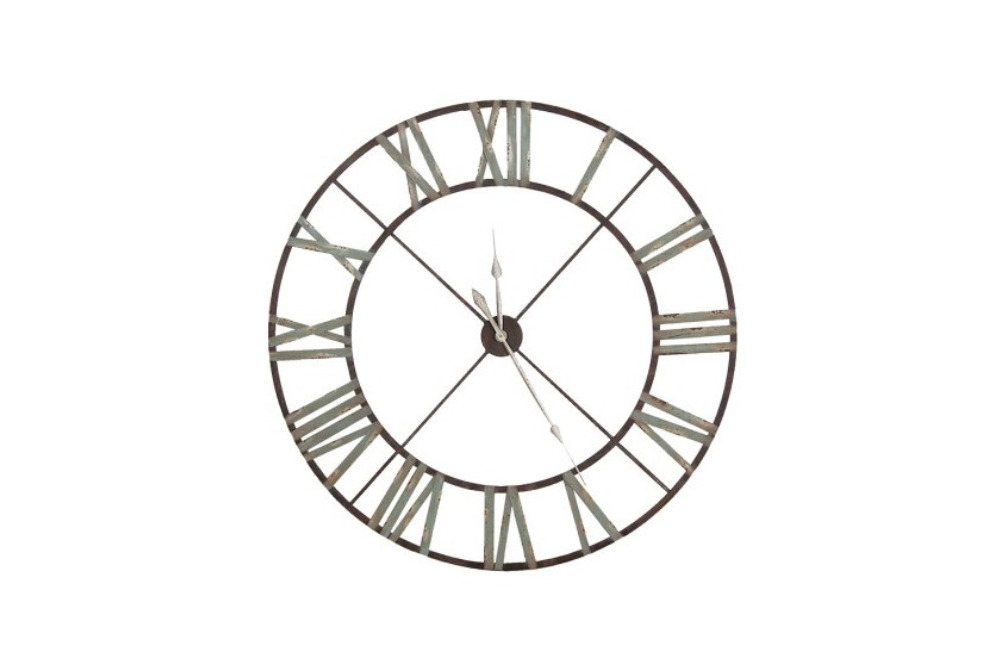 Large Aged Wrought Iron Clock