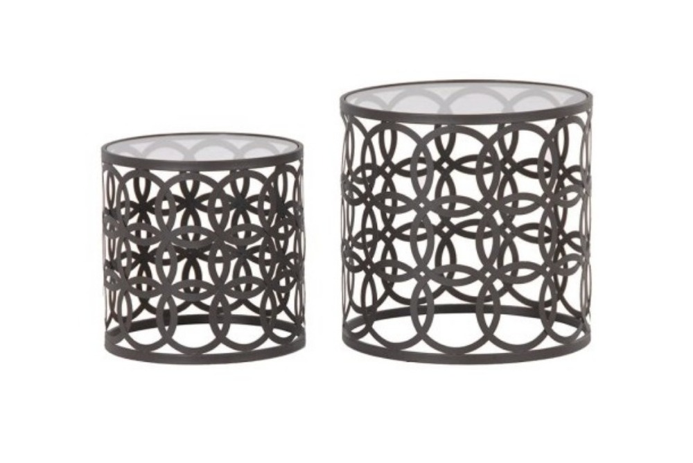 Set of 2 Round Nesting Tables