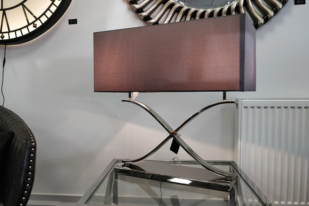 Chrome Rectangular Lamp