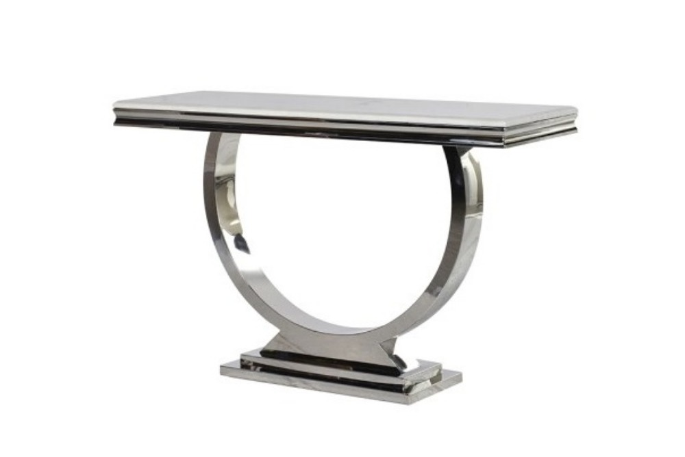 Steel/Composite Marble Console Table