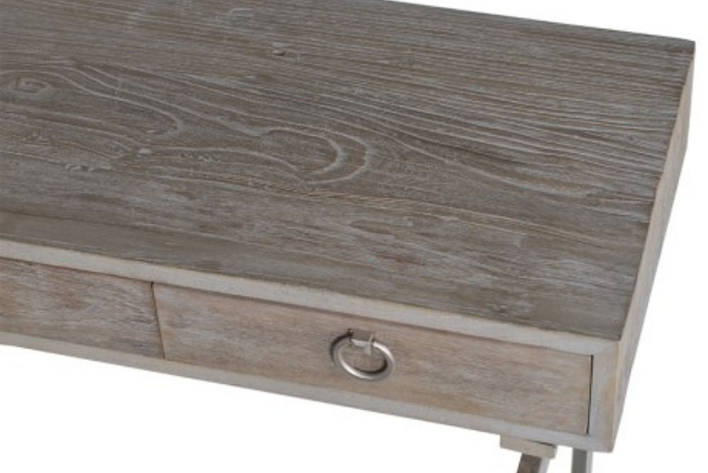 Inspired Floors furniture - Console Table with Stainless Steel Base