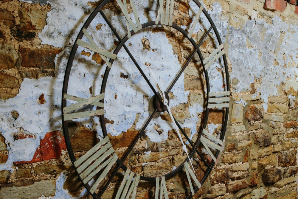 Inspired Floors clocks - Large Aged Wrought Iron Clock