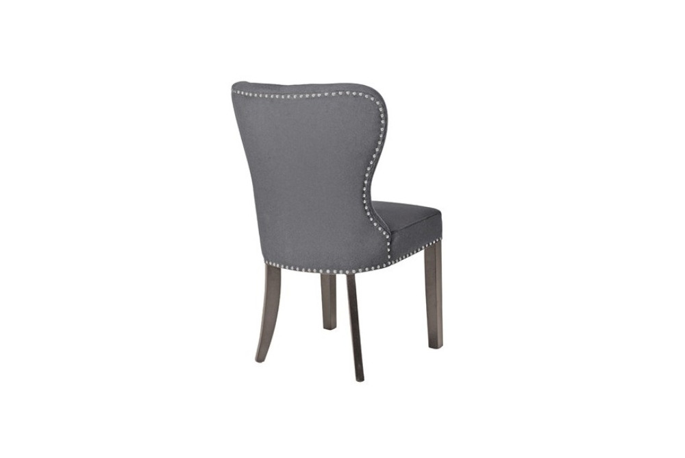 Inspired Floors furniture - Button Back Grey Dining Chair