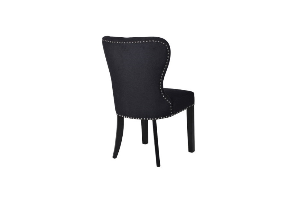 Inspired Floors furniture - Black Button Back Dining Chair