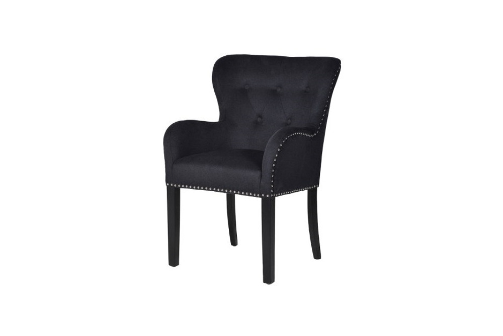 Black Button Chair with Ring