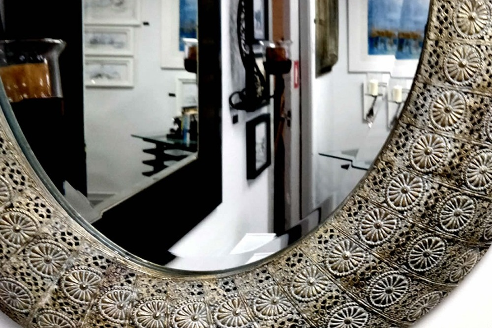Inspired Floors mirrors - Tribal Design Oval Mirror