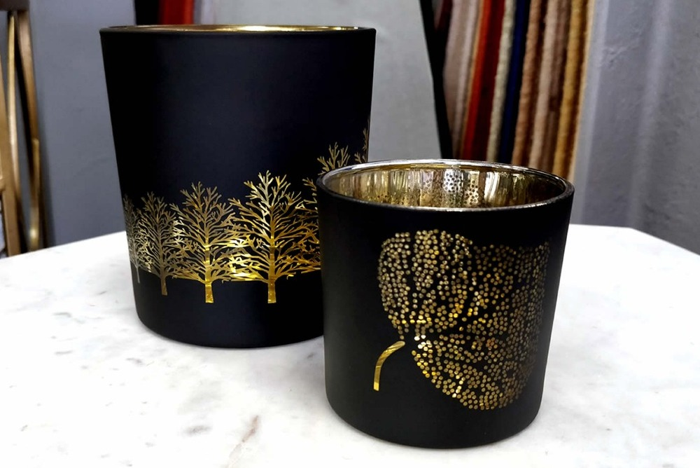 Gold & Black Mini Candle Holders