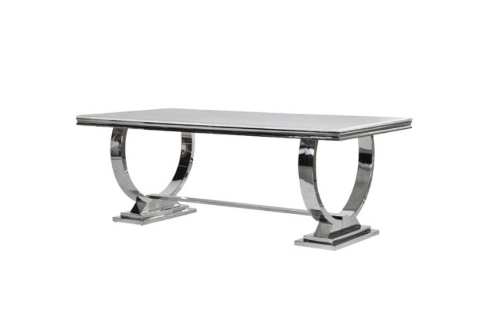 Steel/Composite Marble Dining Table