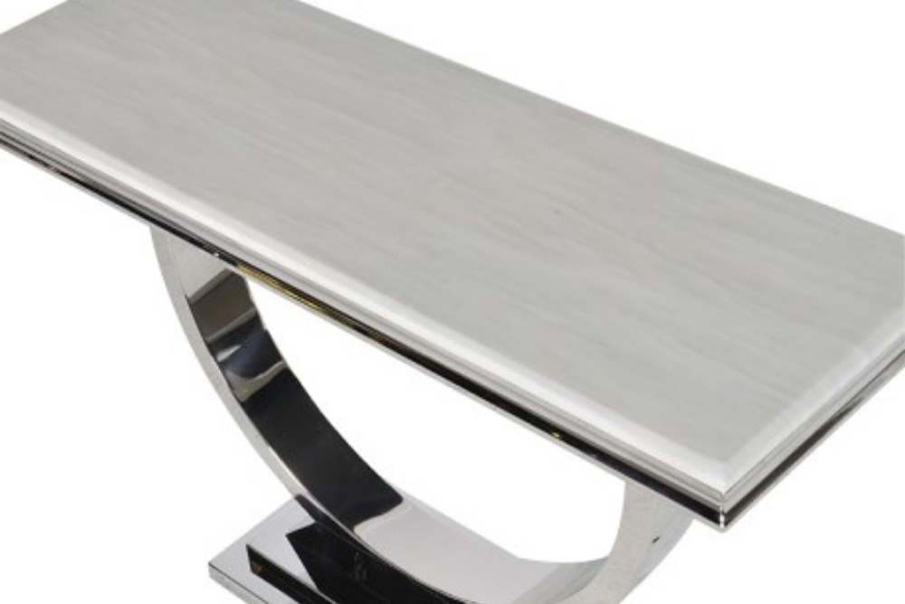 Inspired Floors furniture - Steel/Composite Marble Console Table